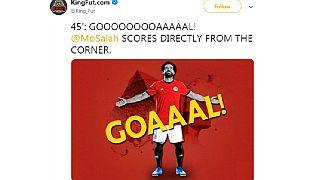 Video: Salah scores straight from corner as Egypt beat eSwatini
