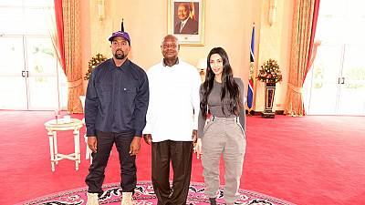 Kanye West and Kim Kardashian Give Yeezys to Orphans During Uganda Trip