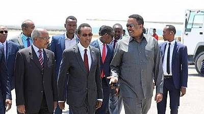 Eritrea, Ethiopia foreign ministers in Somalia for high-level talks