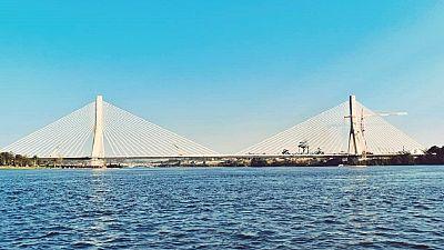 Photos: Ugandans celebrate iconic cable-stay bridge over River Nile