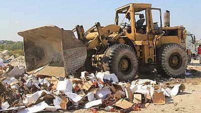 Un conteneur d'alcool de contrebande détruit en Somalie