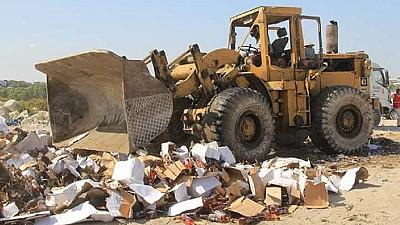 Somalia destroys container full of contraband alcohol