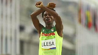 Ethiopian marathoner who made Olympic protest returns from exile