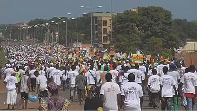 Thousands demonstrate against Guinea-Bissau's electoral census