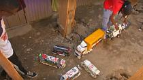 Artist builds replicas of Kenya's colourful minibus matatus [No Comment]