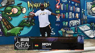 Photos: Ghana graffiti champ beautifies walls of Sao Paolo