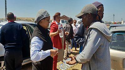 Afrique du Sud : la mairie du Cap solidaire avec des victimes d'un incendie