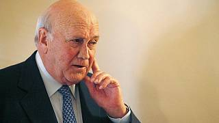 Former S. African president F.W. de Klerk hopitalised for lung condition