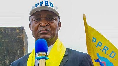 Kabila's pick Ramazani Shadary backs voting machines at rally to 'meet' people