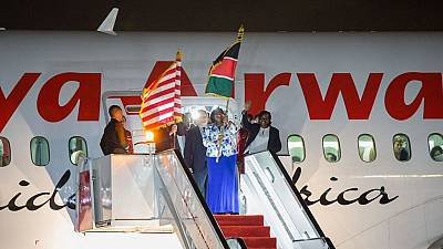 Historic Kenya Airways direct flight to U.S. arrives in New York