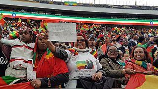 Ethiopian colours, Oromo buzz as Frankfurt welcomes Abiy