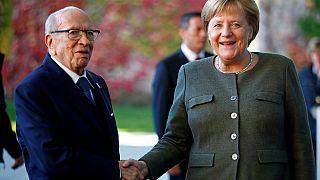 Libya situation highlighted as Merkel meets Tunisia's Essebsi