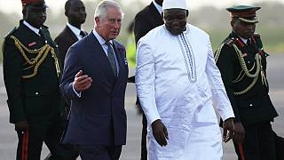 Britain's Prince Charles, wife arrive in The Gambia for West Africa tour
