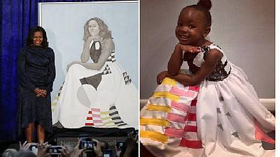 Mrs. Obama loves kiddy Halloween remake of official portrait