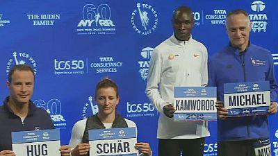Kenyan runners Kamworor, Keitany hope to repeat NYC marathon wins