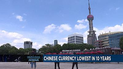 Chinese Yuan at its lowest in 10 years