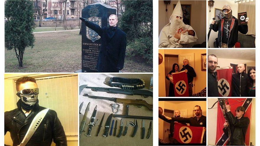 Φωτογραφίες από τα μέλη της οργάνωσης National Action