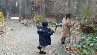Eritrean kids enjoy first snow in Canada, PM Trudeau reacts