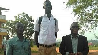 Photo: Ghana high school student's height sets social media alight