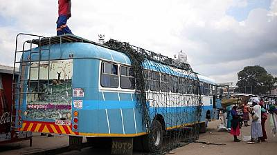 Cylinder explodes on Zimbabwe bus killing about 42
