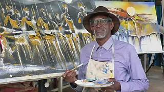 Rwandan renowned artist honors the 'sun' in latest exhibition