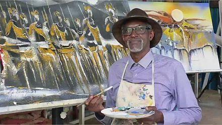 Epaphrodite Binamungu, l'artiste rwandais qui célèbre le soleil