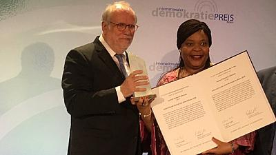 Liberian Nobel Peace laureate awarded 2018 Bonn democracy prize