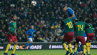 Brazil beat Cameroon by lone goal, Neymar limps off