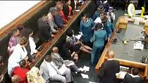 Chaos erupts as police expelled Zimbabwe opposition MPs from parliament [No Comment]