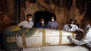 Egypt unveils ancient tomb, sarcophagus