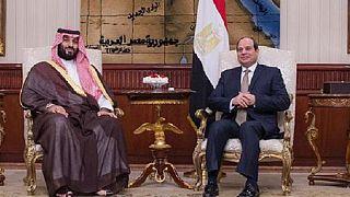 Saudi Crown Prince Bin Salman received by Egyptian President
