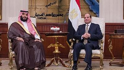 Saudi Crown Prince Bin Salman received by Egyptian President