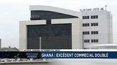 Ghana : excédent commercial doublé