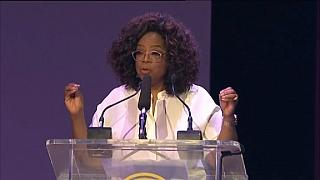 Oprah, Beyonce in South Africa for Mandela 100 concert