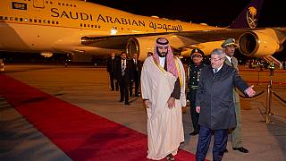 Saudi Crown Prince Bin Salman arrives in Algeria
