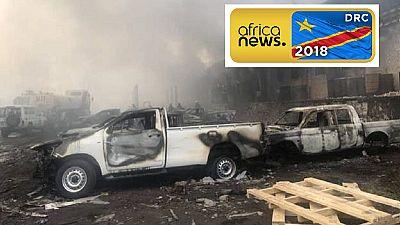 Fire guts key election warehouse in DRC capital, Kinshasa