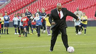 Zuma 'auditions' for South Africa's football team Bafana Bafana