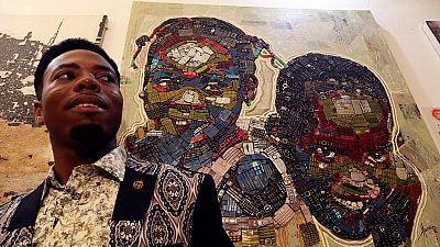 Un artiste ivoirien insuffle une nouvelle vie aux déchets électroniques