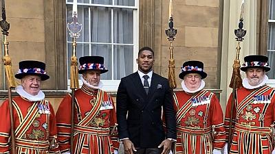 Anthony Joshua awarded OBE by Prince Charles