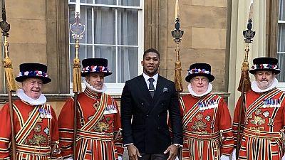 Boxer Anthony Joshua awarded OBE, Order of the British Empire