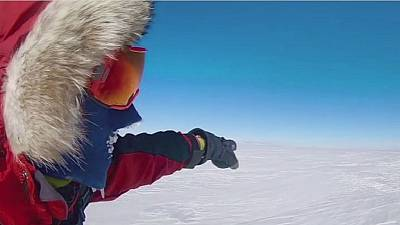 American adventurer completes solo trek across the Antarctica