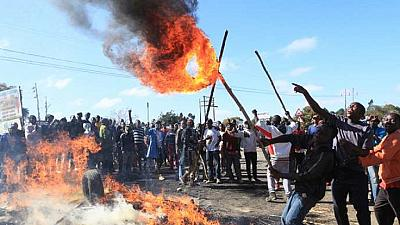 Zimbabwe fuel protests: MDC opposition office torched