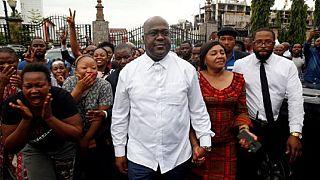 La joie des partisans de Félix Tshisekedi, vainqueur de la présidentielle du 30 décembre en RDC [No Comment]