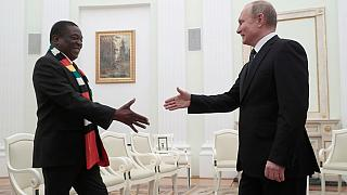 Mnangagwa begs 'senior brother' Putin to help him develop Zimbabwe