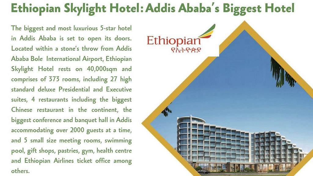 Ethiopian Airlines opens Skylight hotel complex, expanded