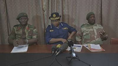 Zimbawean security forces express 'grave concern' over increasing acts of violence