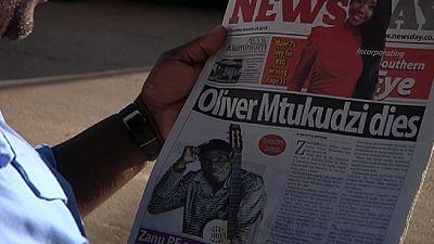 Zimbabwe's president declares Oliver Mtukudzi a National Hero
