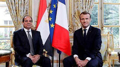 Macron entame une visite en Egypte à Abou Simbel