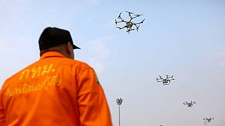 Thai officials deploy drones to battle air pollution, schools closed