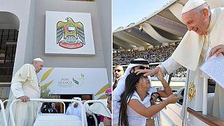 Photos: Pope in UAE, inter-faith meeting, historic mass in Arabian peninsula
